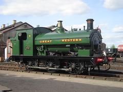 IMG_4813 - GWR Hudswell Clarke Saddle Tank 813 (SVREnthusiast) Tags: didcotrailwaycentre didcot railway centre gwrhudswellclarkesaddletank813 gwr hudswellclarke saddletank 813