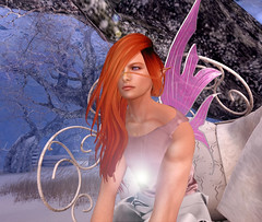 Mystical Fae Forest (Niki Wirefly) Tags: fae fairy fairey faerie male fantasy landscape colour secondlife wings niki sl