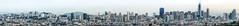 east at easter (pbo31) Tags: bayarea california nikon d810 color easter april spring 2017 boury pbo31 sanfrancisco bernalhillpark bernalheights morning view over skyline city rooftops panoramic large stitched panorama salesforce tower construction cranes