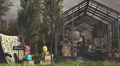 Food, friends and sunshine… ingredients for a picnic (Alexa Maravilla/Spunknbrains) Tags: merak hive bloom dreamscapesartgallery gahome duvetday alirium kiddcreations sl secondlife picnic outdoors spring garden conservatory