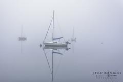 Barcos en la niebla (Javier Colmenero) Tags: alavavision alava amanecer sunset pantano nikond7200 sigma1020 nikon barcos niebla ships swamp loschicosdelalba euskadi fog