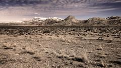 Arizona Hills (C A Hyman) Tags: scrubgrass blackandwhite bluesky snowcoveredhills arizona usa barron desolate cahyman hytecimages clouds cirrus