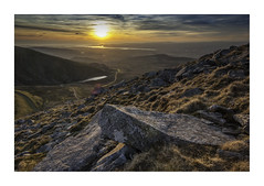 All my flaws.....and ceilings. (markrd5) Tags: wales sunset anglesey snowdonia rocks lake water colour atmosphere nikon1024mm leefilter lensflare glyderau