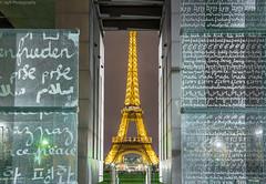 The message of Peace (JayRao) Tags: monuments toureiffel eiffel tower eiffeltower champsdemars ecolemilitaire jayr paris france 2015 peace landmark nikon d610 fx 50mm parisbynight
