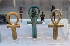 Three Ankh-signs (konde) Tags: ankh wassceptre hieroglyphs napatanperiod gebelbarkal ancientegypt nubia taharqa 25thdynasty thirdintermediateperiod faience cartouche djed malenaqen heh god