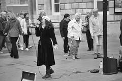 Bath Jazz Singer (thulobaba) Tags: entertainer busker beret passion vocalist voice jazz singer street bath england music female