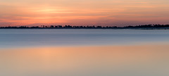 Minimalist sunset (Jean-Luc Peluchon) Tags: sunset sun longexposure color pastel sea reflection water charente island lumix panoramic