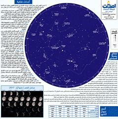 خريطة سماء الليل من فوق مدينة الإسكندرية - مايو/أيار 2017 (إضاءات) Tags: سماء الليل الوطن العربي ليل نجوم فلك القمر