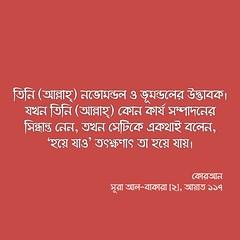কোরআন, সূরা আল-বাকারা (২), আয়াত ১১৭ (Allah.Is.One) Tags: faith truth quran verse ayat ayats book message islam muslim text monochorome world prophet life lifestyle allah writing flickraward jannah jahannam english dhikr bookofallah peace bangla bengal bengali bangladeshi বাংলা সূরা সহীহ্ বুখারী মুসলিম আল্লাহ্ হাদিস কোরআন bangladesh hadith flickr bukhari sahih namesofallah asmaulhusna surah surat zikr zikir islamic culture word color feel think quotes islamicquotes