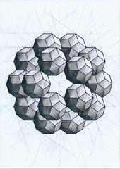 20161228 (regolo54) Tags: polyhedra solid symmetry geometry handmade pencil mathart regolo54 escher pentagon