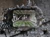 Friche. (julien ( l'ours )) Tags: panasonic dmc fz50 urban exploration urbex abandonnée friche decay decaying grands moulins paris haut france mur trou brique beton