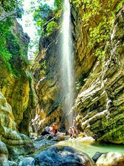 Canyoning Italy (Giuseppe 93) Tags: autofocus nature landscape landscapes italy italia people calabria canyon canyoning waterfall water rocks naturethebest hdr bellaitalia panorama colors magicmoment outdoor season