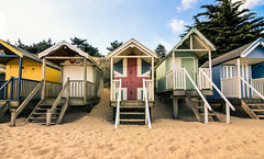 Beach huts, Wells-Next-the-Sea (Euan Armour) Tags: landscape beach huts britain photography holiday sunny warm vacation