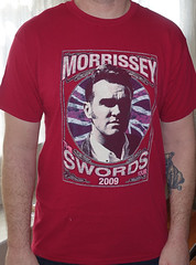 #2035A Morrissey - Swords 2009 Tour (Minor Thread) Tags: minorthread tshirtwars tshirt shirt vintage rock concert tour merch punk pop red morrissey moz thesmiths britpop swords 2009