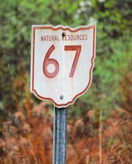 natural resources marker (brown_theo) Tags: salt fork state park road marker natural resources ohio rain 67