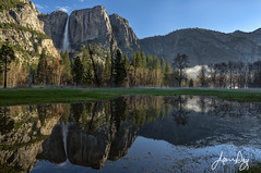Yosemite Morning After a Spring Rain II (jeandayphotography.com) Tags: yosemite california cliff clouds color grass jeanday landscape leidigmeadow meadow mist morning mountains nationalpark nps pond reflections trees usa valley water waterfall wwwjeandayphotographycom yosemitefalls yosemitevalley