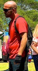 Bald backpacker (LarryJay99 ) Tags: dude urban backpack citygloves dudes guys goatees cargopants florida rainbowflag facialhair shoulders man diggingpits sunshades peekingnipples glasses ilobsteritflickr gayevents men cargo armpits attractiveman providefirst2017 lakeworth baldman handsome male guy attractive beards hotman photostream urbanbackpacker flickr bluesky iphone7plusbackdualcamera66mmf28