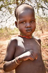Hamar Girl (Rod Waddington) Tags: africa african afrika afrique äthiopien ethiopia ethiopian ethnic etiopia ethiopie omo omovalley outdoor portrait people hamer hamar tribe traditional tribal girl child lips
