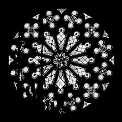 St. John's Church, Helsinki (petterisalomaa) Tags: church glass stained window blackandwhite round finland neogothic