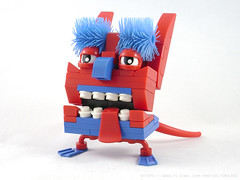 The Ugliest Thing Ever (Unijob Lindo) Tags: lego leg godt klocki monster creature monsters ugly ugliest kobold goblin teeth tooth tongue tail legs fins helmet helmets eyes goggly brush sweeper cat ears nose toy toys cute mixel mixels clip steve buscemi