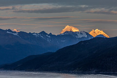 Twin Peaks (don't count the pixels) Tags: patagonia beaglechannel beaglestrait argentina chile southamerica mountains sunrise dawn snow glacier seascape lowlight ngc