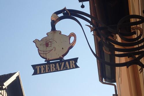 Tea shop sign in Lindau - Germany
