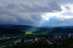 Sky (jordandea) Tags: blackforest clouds cloudyday fujifilm fujifilmxt2 gengenbach germany godray landscape landscapephotography sky theblackforest town xt2