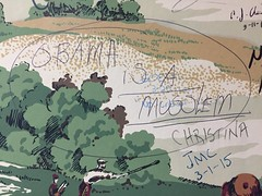 Diamond Grille (jericl cat) Tags: bathroom mensroom graffiti tagging racist obamaisamuslim akron ohio red state roadtrip 2016 1941 diamond grill grille wallpaper restroom interior historic landmark restaurant dining bar lounge timewarp
