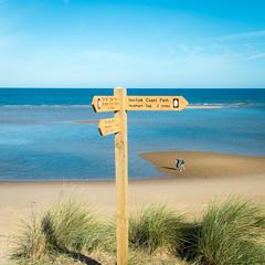 Which way shall we go.... (AJFpicturestore) Tags: burnhamoverystaithe signpost beach beachwalks norfolk alanfoster