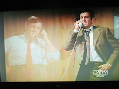 Typical Holographic Phone Conversation Mannix 4671 (Brechtbug) Tags: mike connors joe mannix phone with holographic apparition judge 1960s 1970s 60s 70s tv show episode 04222017 nyc metv new york city 2017 ghost anti split screens screen grab screengrab conversation fictitious bogus silly transparent