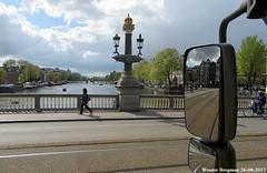 A truckers view on Amsterdam (XBXG) Tags: amstel amsterdam hermitage magerebrug river rivière fleuve bridge pont nederland holland netherlands paysbas dhl truck camion vrachtwagen blauwbrug magere brug 236