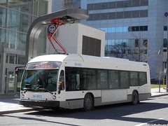 STM 36-902 (2) (magnetboy1) Tags: stm 36902 2016novabuslfse electricbus roadtest charging chargingstation metrosquarevictoriaoaci downtown montreal
