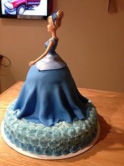 Cinderella Cake (Sweet Cheeks Cake Shop) Tags: cake birthday cinderella princess doll buttercream fondant sweetcheekscakeshop