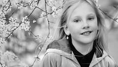 Daniela - 135mm APO Tele-Zenitar @ F 2.8 (DanielSvensson) Tags: child portrait cherry tree spring white bokeh sharp eye eyes