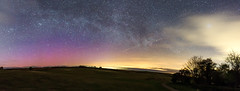 Aurora & Milky way (absynth100) Tags: aurora pink milkyway nightsky night trees panorama blue wales breconbeacons clouds astrophotography