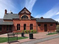 Oakland MD ~ 1884 B&O Station (karma (Karen)) Tags: oakland maryland garrettco borailroad stations arches brick windows benches hbm nrhp iphone hww