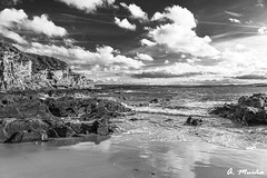 Beach of Estacas in Ares-Galicia (Spain) (A. Muiña) Tags: paisaje naturaleza nature landscape marina seaphotography water agua nubes clouds mar playa beach nikond800 cielo heaven blancoynegro bw