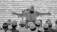 Imam arms outstretched 3119 3bw (shahidul001) Tags: mosque prayer religion spirituality islam baiturrouf agakhanaward architecture marinatabassum light design community