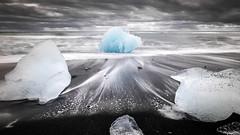 Jokulsarlon ice beach - Iceland - Travel photography (Giuseppe Milo (www.pixael.com)) Tags: iceland sand landscape jokulsarlon travel beach water black sky seascape glacier sea ice clouds easternregion is onsale