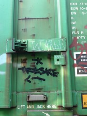 Wooden Axle & Tre (KingSquab) Tags: train graffiti wooden streak tre freight nsf axle moniker dklt treske uploaded:by=flickrmobile flickriosapp:filter=nofilter