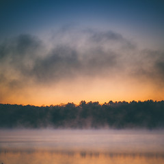 Boiling Point (Jack Wassell) Tags: morning light sky sun mist lake color water beautiful fog clouds sunrise canon reflections square spring pretty minimal minimalism rise squarecrop vsco vscofilm jackwassell