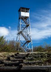 Azure Mountain Firetower (photoMakak) Tags: newyork day unitedstates cloudy hiking adirondacks adirondack adk firetower firetowerchallenge saintregisfalls adkfiretowerchallenge photomakak