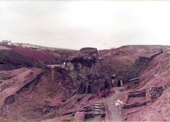 Remains of Tintagel Castle, legendary birthplace of King Arthur (sftrajan) Tags: england ruins cornwall unitedkingdom britain 1983 tintagel tintagelcastle