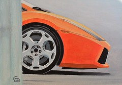 Schilderij van oranje Lamborghini Gallardo (geertjandebont.nl) Tags: orange cars painting artwork italian italia schilderij lamborghini viva acryl gallardo 2012 oranje assen sportwagen vivaitalia 2013 italiaquot wwwgeertjandebontnl quotviva