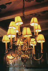 CNV00005 (Thomas Corcoran) Tags: lighting light film lamp 35mm hotel hall nikon antique shades chandelier mm 135 fixture 35 f90x hassop