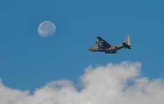 Moon over Bagram (James Brian Clark) Tags: sky moon afghanistan aircraft aviation military hercules c130 2012 bagram