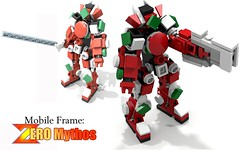 Mobile Frame: Zero Mythos (NimbusConflict) Tags: lego mecha mech megaman moc microscale mechaton mfz mf0 mobileframezero