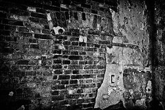 Wall (photographer Hans Wessberg) Tags: bw texture monochrome wall se blackwhite sweden bricks urbanexploration sverige ue tegel svartvitt vgg medelpad vergivet bruksort kemiskindustri ljungaverk hanswessberg
