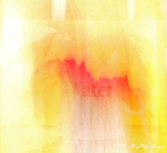 6.17.13: Water Pitcher Abstract (Ruff Edge Design) Tags: red blur yellow overlay cropped glowingedges