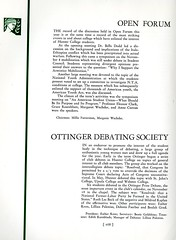 Open Forum and Ottinger Debating Society (Hunter College Archives) Tags: students club 1936 yearbook clubs hunter debating activities huntercollege studentorganizations organizations studentactivities openforum studentclubs wistarion studentlifestyles thewistarion ottingerdebatingsociety